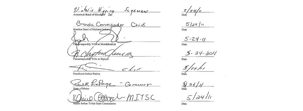 Mandate signatures photo