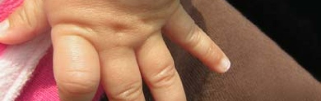 Photo of small girl's hands