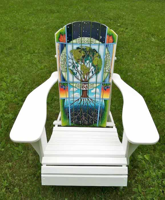 Full-size view of ARTirondack Chair for Mollyockett Days
